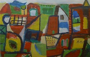 JILL NOBLE, UNTITLED, GOUACHE, 25 x 38cm