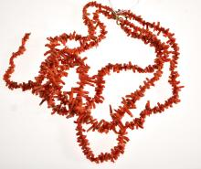 TWO STRANDS OF BRANCH CORAL