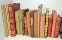 A SHELF OF VINTAGE BOOKS, MAINLY ON LANGUAGE & LITERATURE, INCL. GRAMMAR & COMPLETE & ENGLISH COMPOSITION