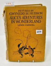 ALICE'S ADVENTURE IN WONDERLAND 1922 EDITION, LONDON HODDER & STOUGHTON (WELL WORN / SPINE A/F)