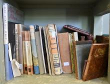A SHELF OF BOOKS, INCL. THE POWER WITHOUT GLORY BY FRANK J. HARDY WITH ACCOMPANYING GLOSSARY