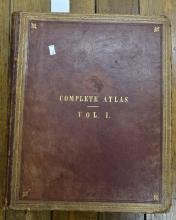 'COMPLETE ATLAS', IN TWO VOLUMES, C. 1859, INCLUDES ELEVEN MAPS OF INDIAN (INCOMPLETE)