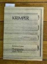 TERENCE LANE, 'SCHULIM KRIMPER; CABINET MAKER', 1987 & A BOOK ON