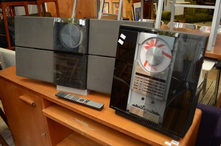 TWO BANG & OLUFSEN CD PLAYERS (ONE MISSING SHEET OF GLASS) WITH REMOTE