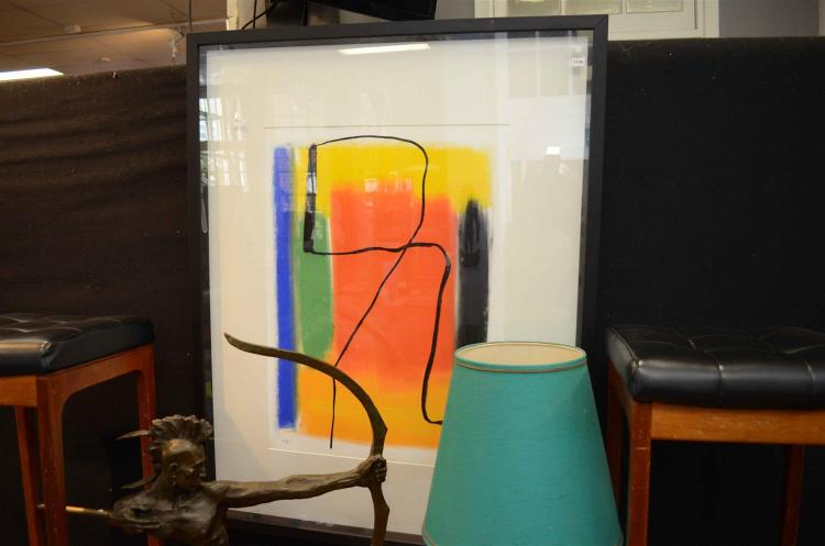SIGNED SOTHEHALL, ABSTRACT 08, JUDY1, PASTEL ON PAPER