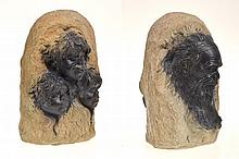 WILLIAM RICKETTS DOUBLE SIDED PORTRAIT SCULPTURE