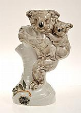 HUNTLEY WARE KOALA AND BABY FIGURE