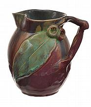 SMALL REMUED BRANCH HANDLED JUG WITH APPLIED GUM