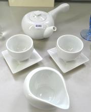 A KOREAN BOXED TEA SET, RETAILED BY KWANGJUYO, (BOX WITH STAFF)
