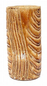 GLORIA FLETCHER THANCOUPIE (1937-2011) Wattle Flower glazed stoneware with incised design
