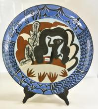 A RALPH EBELEIN CERAMIC CHARGER FROM THE 'ARCHAI SERIES'
