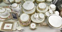 A WEDGWOOD 'CLIO' DINNER SERVICE, INCL. TERRINES, VASES AND PHOTO FRAMES