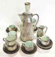 DAVID AND HERMIA BOYD EARTHENWARE COFFEE SET