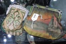 TWO WHITING AND DAVIS COLLECTABLE MESH BAGS