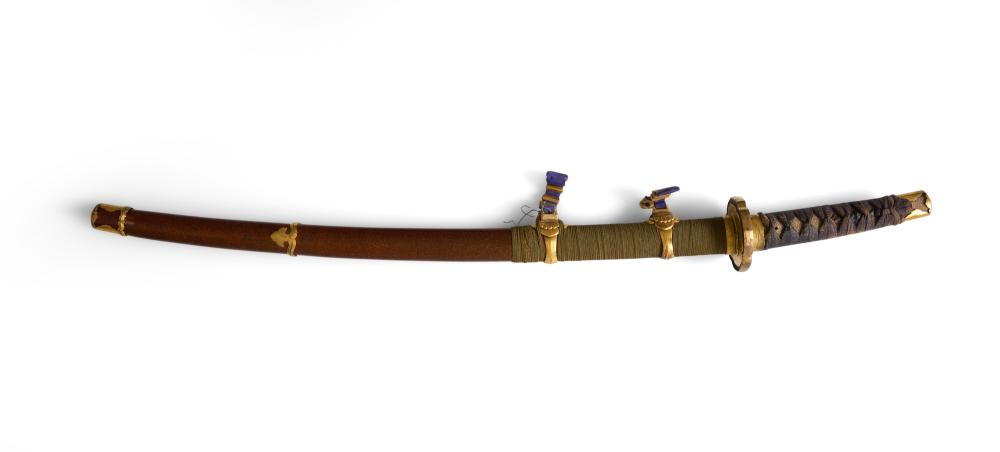 A JAPANESE CEREMONIAL WOOD CHILD'S SWORD EDO (1603-1868) / MEIJI PERIOD (1868-1912)