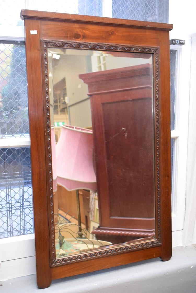A rectangular blackwood mirror 50cm x 100m for Miroir 50 x 100
