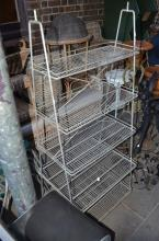 A GALVONISED FIVE TIER METAL SHELVING UNIT