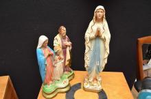 TWO ITALIAN PLASTER RELIGIOUS FIGURES