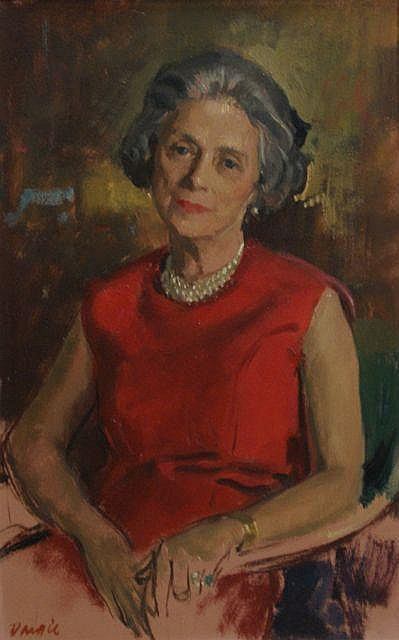 William Dargie (1912-2003) Portrait of Hannah Lloyd Jones oil on board