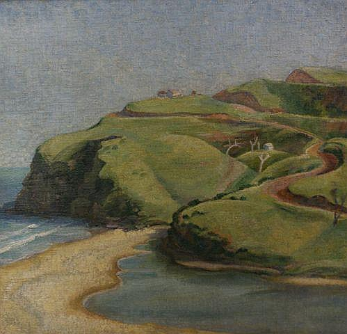 Douglas Dundas (1900-1981) Stanwell Park oil on canvas on board