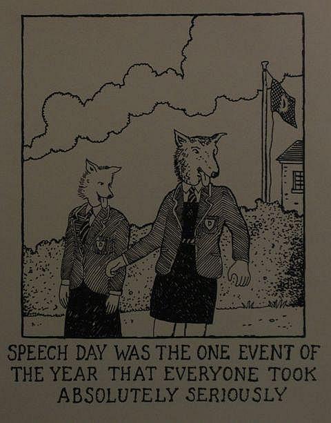Glen Baxter (English, born 1944) Speech Day lithograph