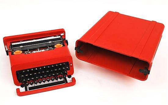 ETTORE SOTTSASS (1917-2007)A VALENTINE PORTABLE TYPEWRITER, DESIGNED 1969