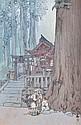 HIROSHI YOSHIDA (JAPANESE, 1876-1950) A Misty Day in Nikko woodblock