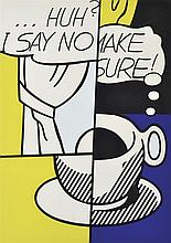 ROY LICHTENSTEIN (AMERICAN, 1923-1997) Huh? 1976 screenprint 23/100