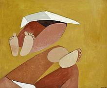 DOROTHY BRAUND (1926-2013) Legs 1990 oil on board