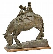 STANLEY JAMES HAMMOND (BORN 1913) On Horseback bronze on timber base 4/5