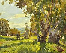 HAROLD SEPTIMUS POWER (1878-1951) Max Middleton and Ambrose Griffin Painting Outdoors oil on canvas board