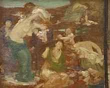 RUPERT BUNNY (1864-1947) Study for Sur le Tapis de Varech circa 1913 oil on canvas