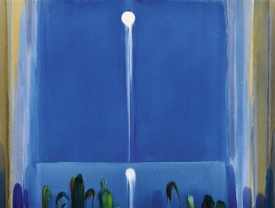 JOLLY KOH (SINGAPOREAN, BORN 1941) Untitled (Blue) 1995 acrylic on linen