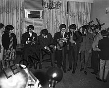 THE BEATLES ACCEPTING GIFTS AT CONFERENCE/RECEPTION