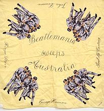 BEATLES 1964 AUSTRALIAN TOUR HEAD SCARF