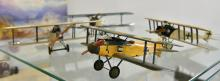 FOUR HANDMADE WOODEN MODELS OF WWI GERMAN FIGHTER AIRCRAFT