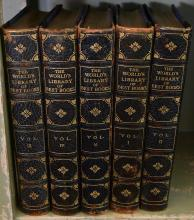 A PART SHELF OF ENCYCLOPEDIAS
