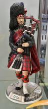 A MICHAEL SUTTY FIGURE OF A ' PIPE MAJOR SCOT'S GUARD'