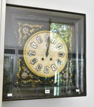 A VINEYARD CLOCK WITH MOTHER OF PEARL INLAY