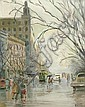 Esther Paterson (1892-1971) Collins St, Melbourne gouache on board, Esther Paterson, Click for value