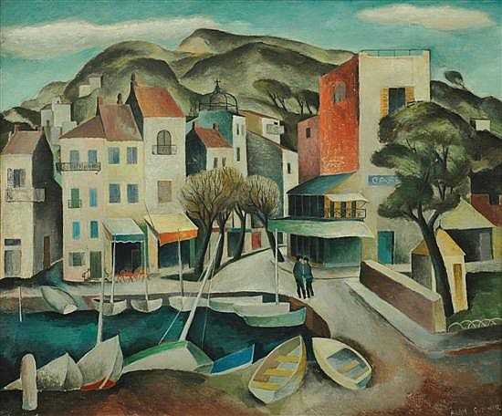 Alan Sumner (1911-1994) European Town Scene oil on canvas on board