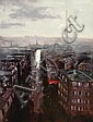 Herman Pekel (born 1956) Paris oil on board, Herman Pekel, Click for value