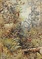 Arthur Boyd Senior (1862-1940) Gully, Mt. Wellington, Tasmania 1910 watercolour, Arthur Merric Boyd, Click for value