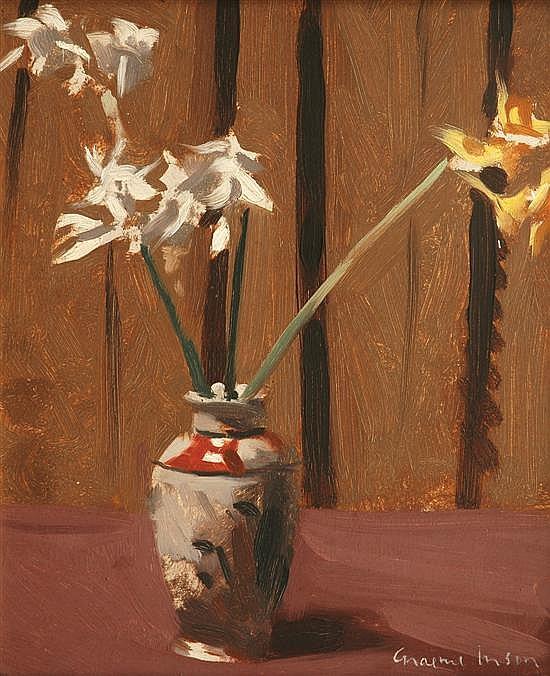 Graeme Inson (1923-2000) Still Life with Daffodils oil on board