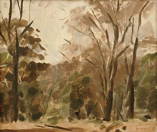 Graeme Inson (1923-2000) Landscape Sketch 1952 oil on board