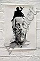 JAMES DODD (DLUX) Peter Hore 2004 enamel stencil print on paper a/p 42 x 30cm