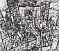 JAN SENBERGS (BORN 1939) Downtown 1992 etching 7/14