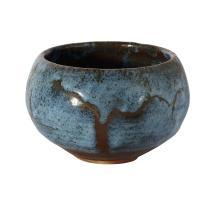 PETER RUSHFORTH (1920-2015) Bowl circa 1985 stoneware, tenmoku and Jun glazes