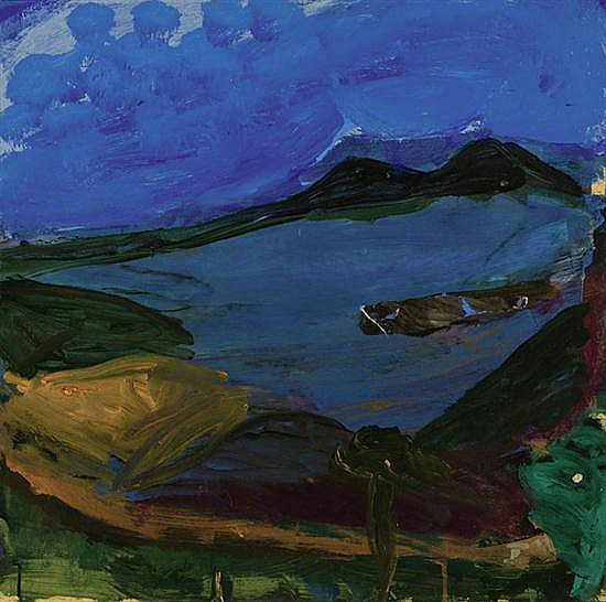 IDRIS MURPHY (BORN 1949) View to the Lake South Coast oil on board
