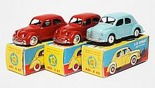 THREE CIJ MODELS INCLUDING 3/47 DYNA; 4/47 DYNA; AND 4/484 CV RENAULT (E-M BOXES G-VG) (3)